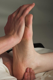 Reflexology improves mobility in the joints of the feet and ankles